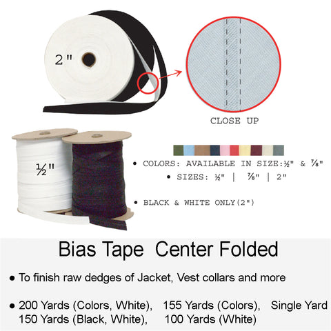 BIAS TAPE CENTER FOLDED