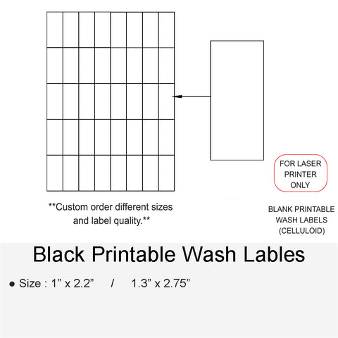 BLANK PRINTABLE WASH LABELS