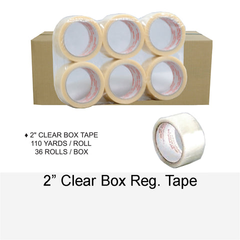 BOX TAPE CLEAR REG. 2