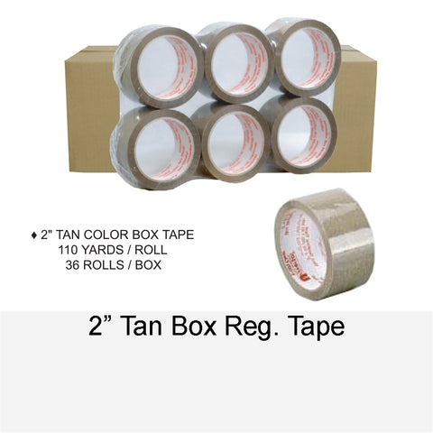 BOX TAPE TAN REG. 2