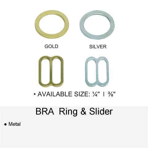 BRA METAL RING & SLIDER