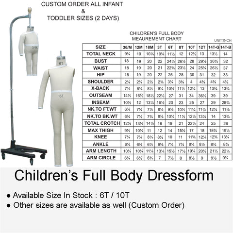 CHILDREN'S DRESSFORM