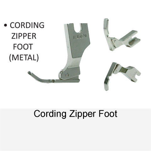 CORDING ZIPPER FOOT METAL