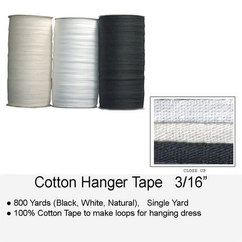 COTTON HANGER TAPE 3 16