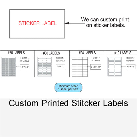 CUSTOME PRINTED STITCKER LABELS