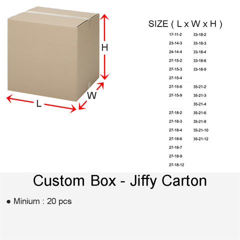 CUSTOM BOX JIFFY CARTON