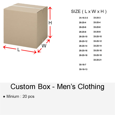 CUSTOM BOX MEN'S CLOTHING