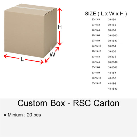 CUSTOM BOX RSC CARTON