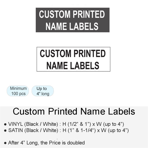 CUSTOM PRINTED NAME LABELS