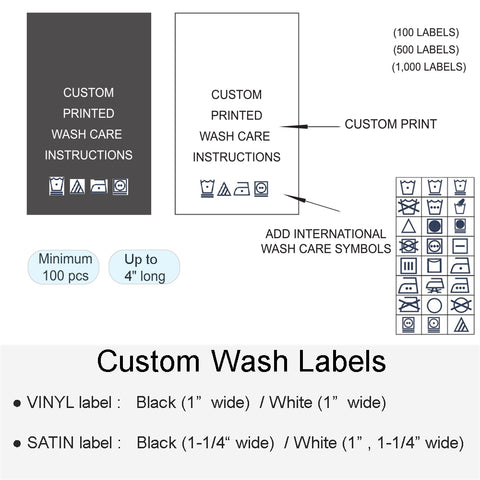 CUSTOM WASH LABEL