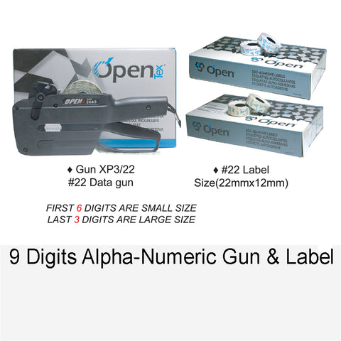 DATA GUN & LABEL 9