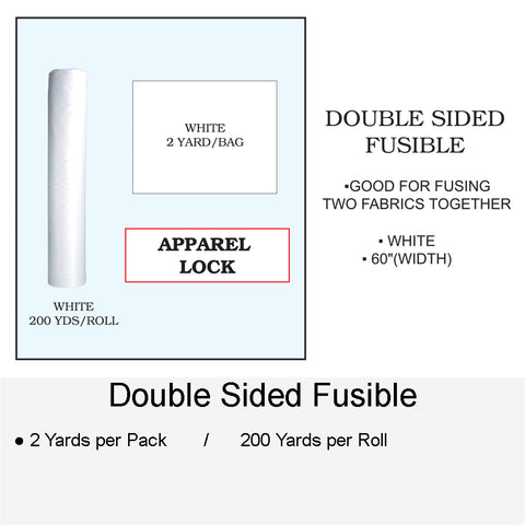 DOUBLE SIDED FUSIBLE