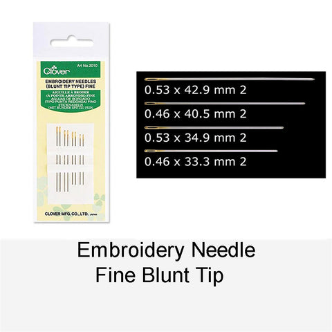 EMBROIDERY NEEDLE FINE BLUNT TIP