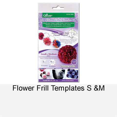 FLOWER FRILL TEMPLATES S & M