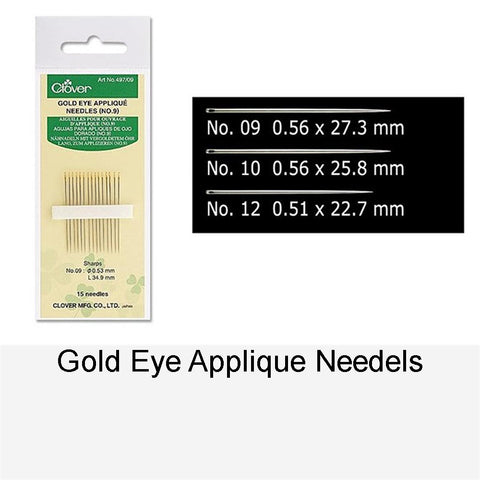 GOLD EYE APPLIQUE NEEDLE NO.9