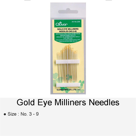 GOLD EYE MILLINERS NEEDLES NO.3-9