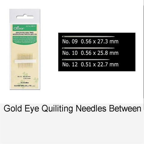 GOLD EYE QUILTING NEEDLES BETWEEN