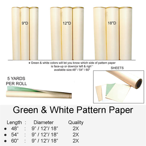 GREEN & WHITE PATTERN PAPER
