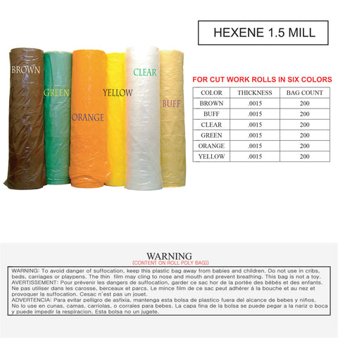 POLY BAG - HEXENE (1.5 MILL)