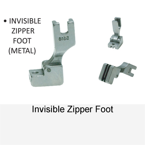 INVISIBLE ZIPPER FOOT METAL