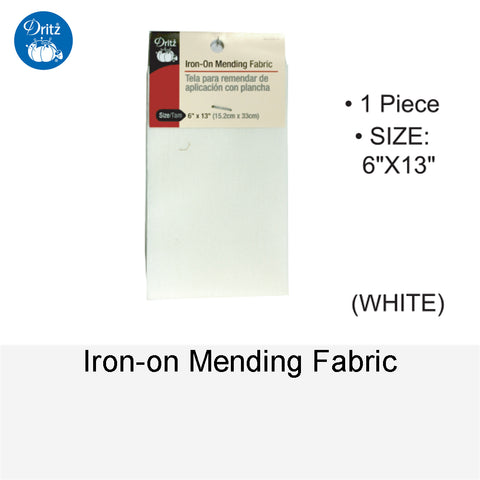 IRON-ON MENDING FABRIC WHITE