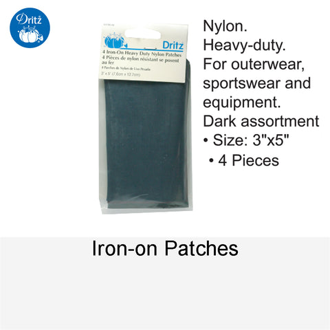 IRON-ON PATCHES NYLON ASSORMENT