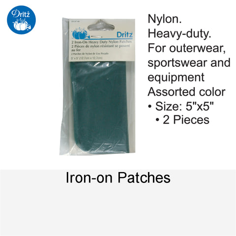 IRON-ON PATCHES NYLON ASSORTED