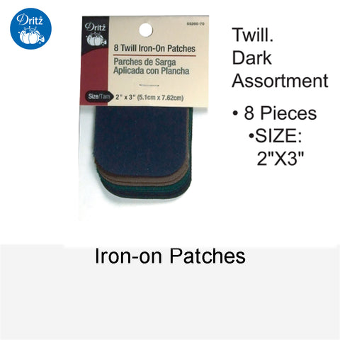 IRON-ON PATCHES TWILL DARK