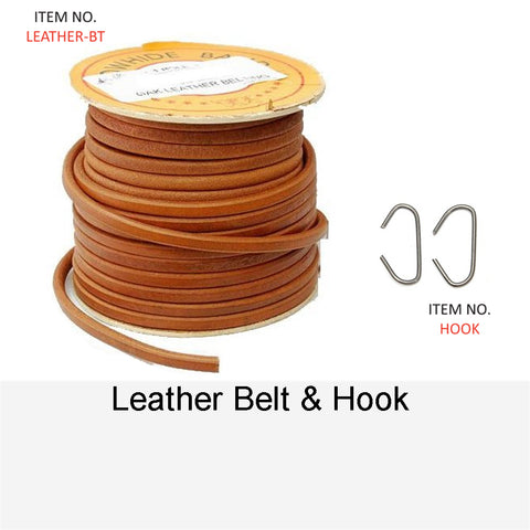 LEATHER BELT AND HOOK