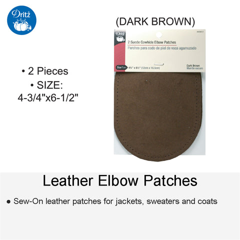 LEATHER PATCH DK BROWN