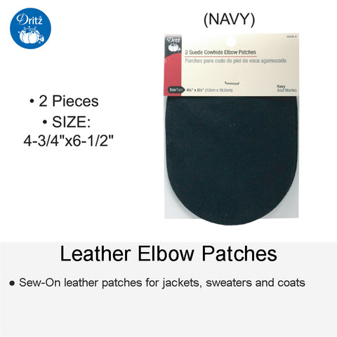 LEATHER PATCH NAVY