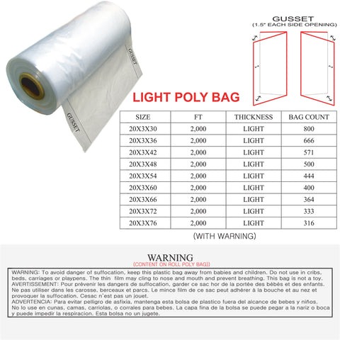 POLY BAG - LIGHT GUSSET