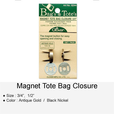 MAGNET TOTE BAG CLOSURE