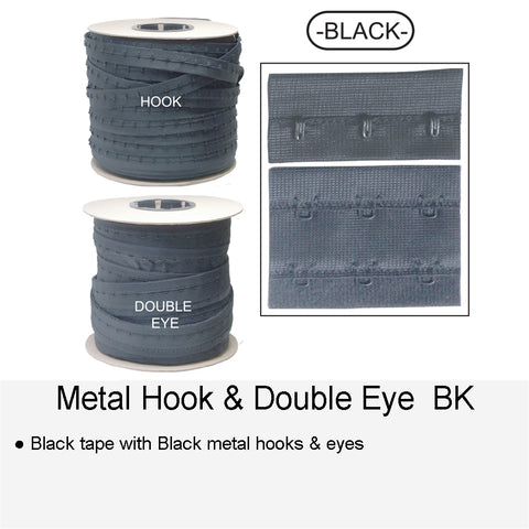 METAL HOOK & DOUBLE EYE BK