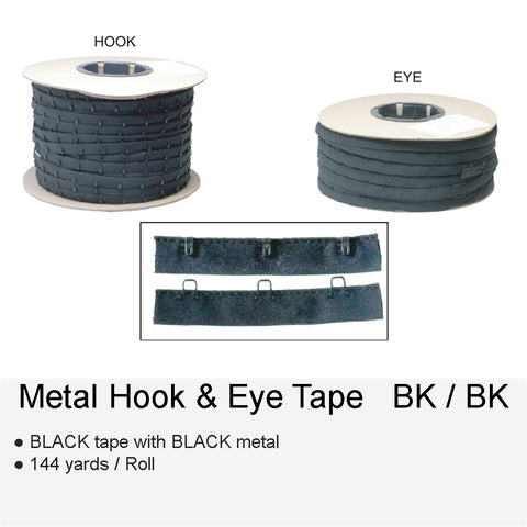 METAL HOOK & EYE BKBK