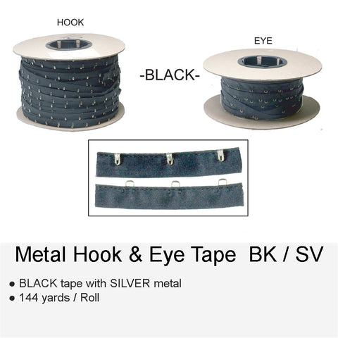 METAL HOOK & EYE BKSV