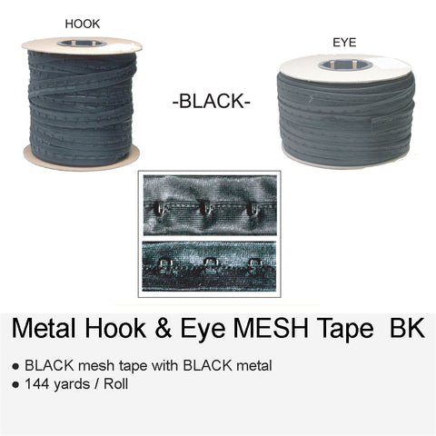 METAL HOOK & EYE MESH BK