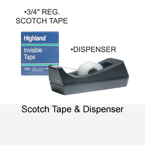 SCOTCH TAPE & DISPENSER