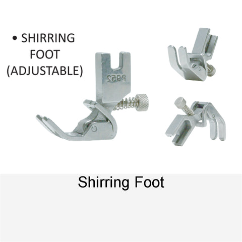 SHIRRING FOOT ADJUSTABLE