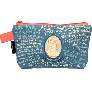 Jane Austen Zipped Pouch
