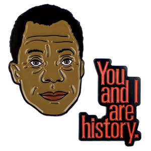 James Baldwin Enamel Pin Set