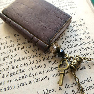 'Book Lover' Necklace - Brown