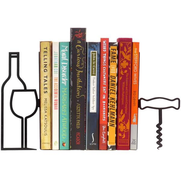 More Wine, Less Whine Bookends