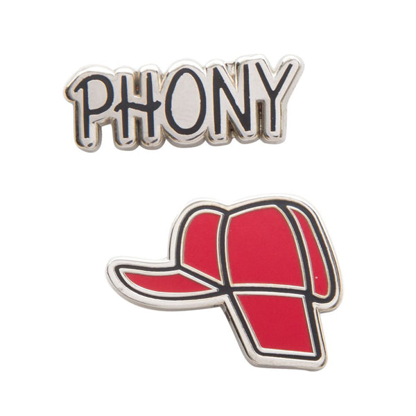 Holdens Hat Enamel Pin Set The Catcher In The Rye