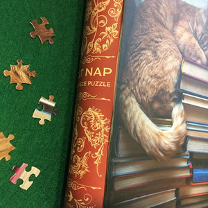 Cat Nap Book Box Jigsaw Puzzle