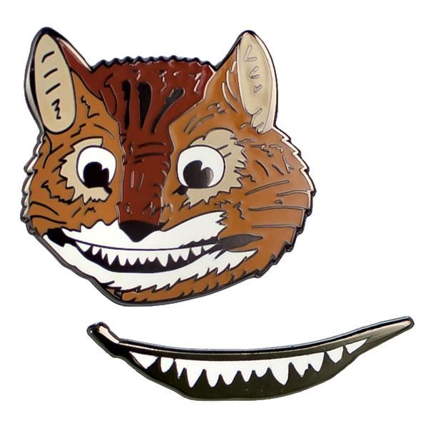 Cheshire Cat Enamel Pin Set