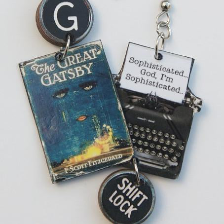 The Great Gatsby Typewriter Earrings