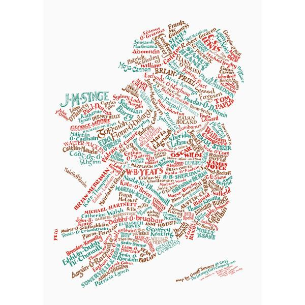 Literary Map of Ireland