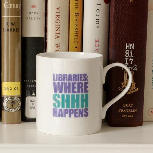 Libraries: Where Shhh Happens Mug