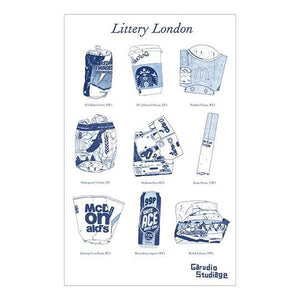 Littery London Dish Towel